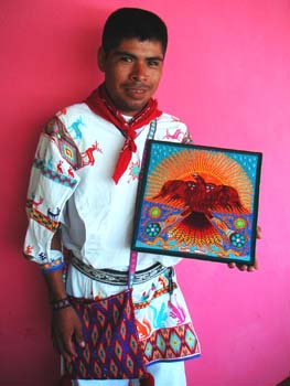 Example of Huichol craftwork