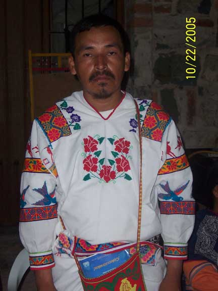 Traditional Huichol dress, very colorful